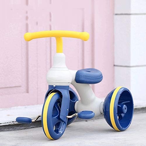 SXNYLY Balance Bike Tricycle Child Walker 1 Year Old Boy and Girl Toy Baby Four-Wheel Walker Best First Birthday New Year's Day Holiday (Color : B)