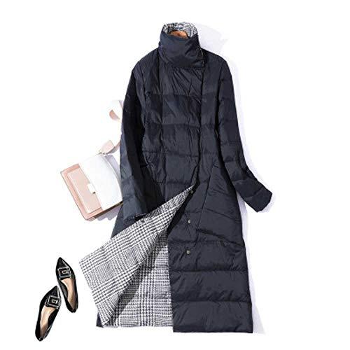 Heißer Neue Double Side Damen Winter DaunenjackeLange Mode Zweireiher Mantel weibliche weiße Ente Daunenparka