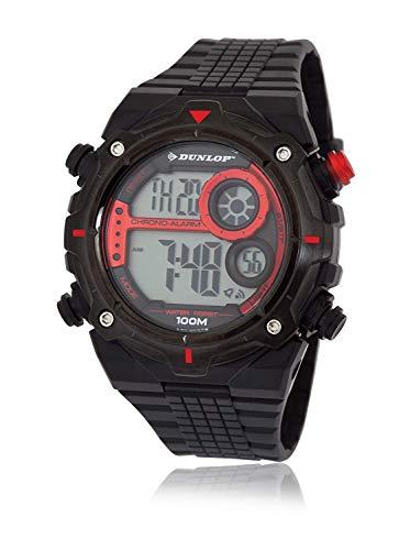 Dunlop Reloj Digital para Hombre de Cuarzo con Correa en Caucho DUN228G07