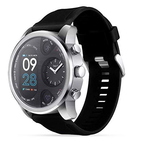 Fitness-Tracker Smart Watch Business Bewegung Armband Schrittzähler Nachricht Erinnern IP68 Wasserfest Praktische Fitness Dual Display Aktivitätsanzeige Schlafmonitor Armband Herzfrequenz Männer Herzf