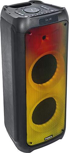 WAVE10 - Ibiza Sound - LAUTSPRECHER 2x10 \'\' / 800W mit USB/SD/FM/BLUETOOTH - FLAME Lichteffekten und TWS-Funkverbindung, 10-5540