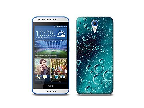 etuo Handyhülle für HTC Desire 620 - Hülle, Silikon, Gummi Schutzhülle - Tröpfchen