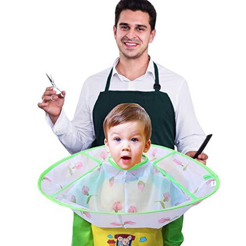 Wekdeg Friseurumhang Mit Auffang ärmel Haar Schneideumhang Regenschirm Wasserdicht Friseurumhang Schneiden für Kinder Familien