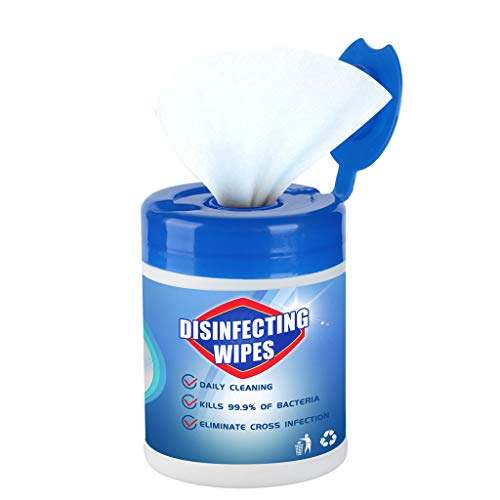 Alixyz- 𝐃isinfecting wipes Portable 75% 𝐀lcohol wet wipes 𝐀ntiseptic Cleaning 𝐒terilization 𝐖ipes for Body, 60 Sheets/Bucket (1 Barrel/60Pcs/A)