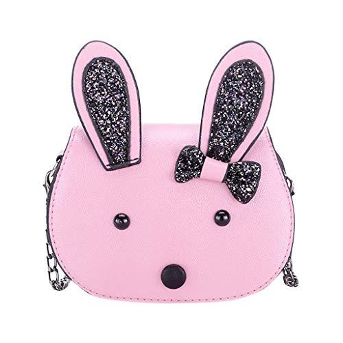 AIni Rucksack Kinder Kinder Süße Kaninchen Wildtasche Schulter Messenger Geldbörse Tasche für Kinder Kinderrucksäcke Rucksäcke Rosa
