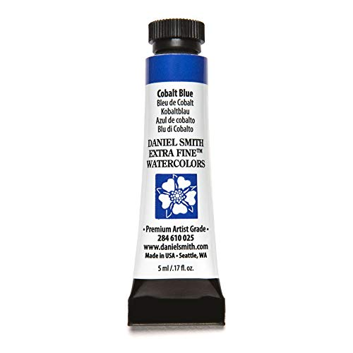 DANIEL SMITH Extra Fine Watercolor Paint, 5ml Tube, Cobalt Blue, 284610025