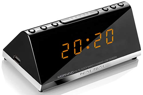 Sunstech MORNINGV2 - Radio despertador (AM/FM, digital, alarma x 2,...