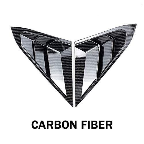 FANGPAN Für Honda Civic 2016-2020, Fensterseitenklappen Schaufelabdeckung Entlüftung ABS Kohlefaserfarbe Auto-Tuning-Teile