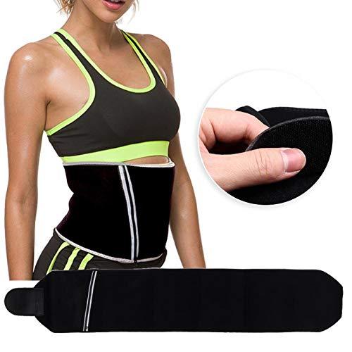 SALUTUYA Cinturón de Cintura elástico Entrenador de Cintura Multifuncional Durable, para Gimnasio, para Deportes(L (23cm*117cm))