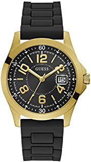 Guess Sport Watch for Men, Stainless Steel Case, Black Dial, Analog -GW0058G2