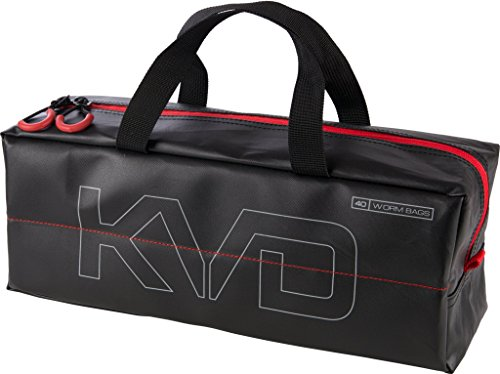 Plano KVD Worm Speedbag, Premium Tackle Organization (holds 40 worm bags), Black/Grey/Red, Large