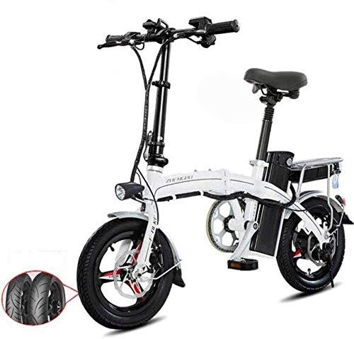 Bicicletas Eléctricas, Bicicletas eléctricas rápida for adultos de peso ligero plegable de aluminio E-bici con Pedales Power Assist y 48V de iones de litio bicicleta eléctrica con un 14 pulgadas rueda