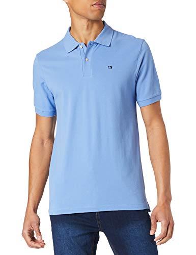 Scotch & Soda Poloshirt aus Bio-Baumwoll-Piqué Camisa de Polo, 4155 Seaside Blue, L para Hombre
