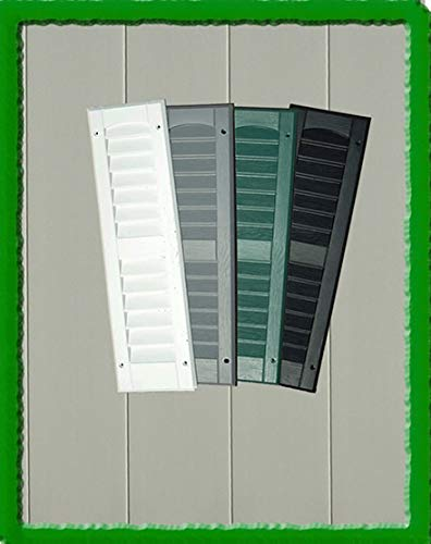 """OUTDOOR PLAY AND STORAGE SHED SHUTTERS - 9""""X36"""" (Black)"""