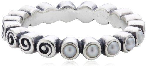 Pandora Damen-Ring mit weißen Perlen 190836P-54