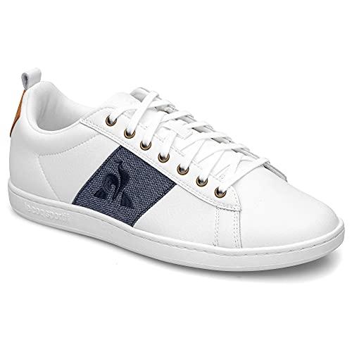 Le Coq Sportif Courtclassic, Zapatillas Deportivas Hombre, Optical White/Dress Blue, 43 EU