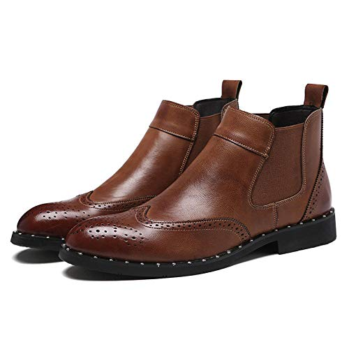 Wsreyj Herrenschuhe Handgefertigte Stiefel Herren-High-Top-Schuhe Martin Stiefel Spitzen Herrenstiefel