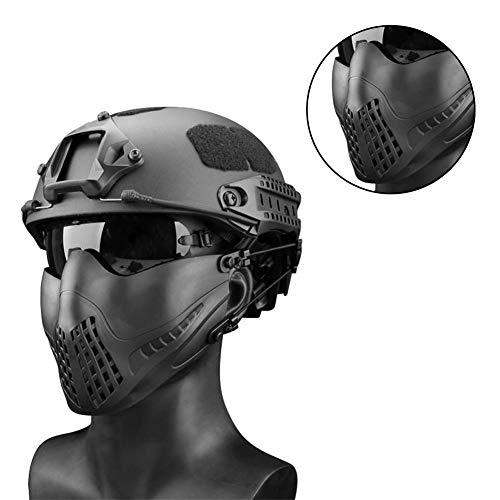 miraculocy Airsoft Schutzmaske Double Modes Stirnband System Outdoor Military Navigator Gesichtsmaske