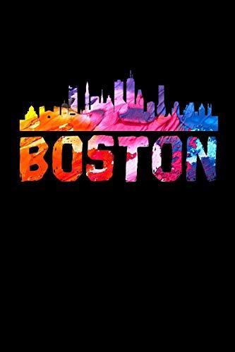 Boston: Beautiful Boston Skyline Watercolor Notebook (Massachusetts Journals for Writing In)