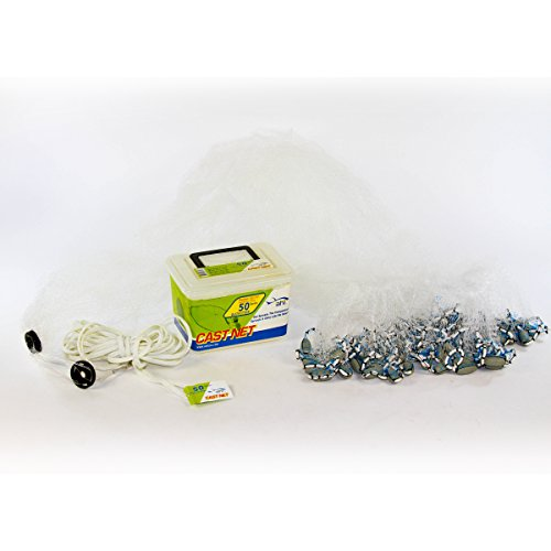 Ahi USA 50 Outfitter Series Monofilament Cast Net, Clear,...