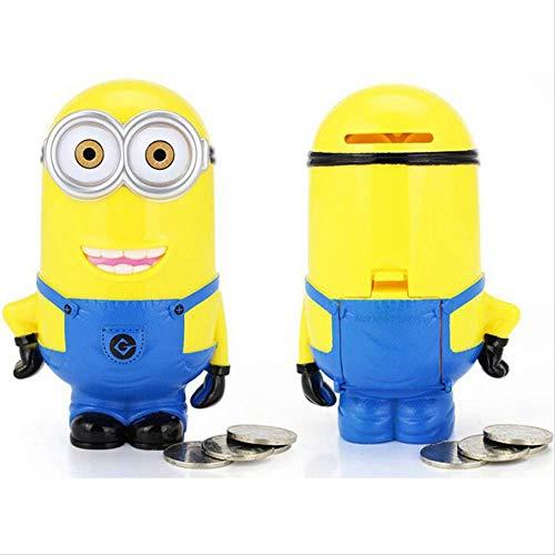 RUOXI Sparschwein 3D Minions Cartoon Figuren Sparschwein Spardose Hucha Sparmünze Cent Penny Kinder Spielzeug