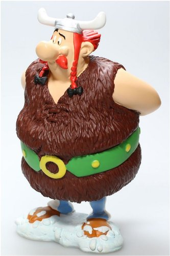 Asterix figura resina Obelix vikingo 14 cm 2