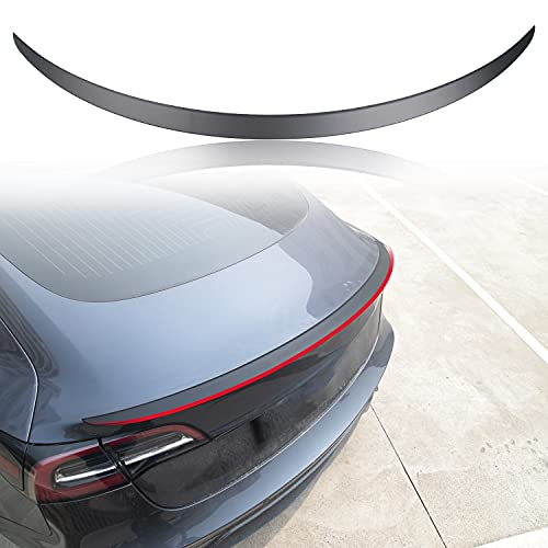 XTAUTO Spoiler Fit for Tesla Model 3 Tail Wing Performance Rear Spoiler Trunk Lid Lip ABS Material 2016-2021 Tesla Model 3 Accessories (Matte Black)