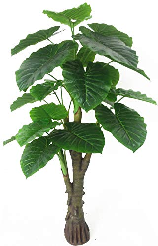 AMERIQUE Gorgeous & Unique 6 Feet Royal Hawaiian Elephant Ear Artificial Plant with Giant Leaves, UV Protection, Feel Real Tech, Standable, 6', Green