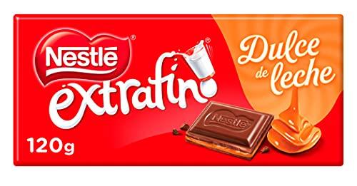 Nestlé Extrafino Tableta de Chocolate con Leche Relleno de Dulce de Leche, 120g