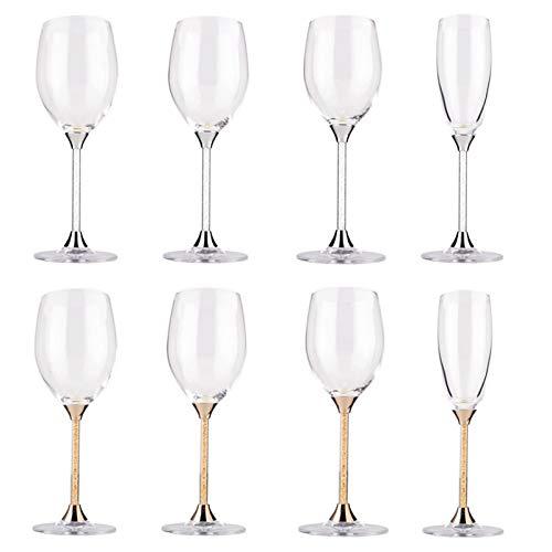Z-Y Taza de Cafe Copa de Vino Vaso de Whisky Copas De Vino del Vino del Cubilete De Cristal Copa Cocina Cristalería (Color : OH18025)
