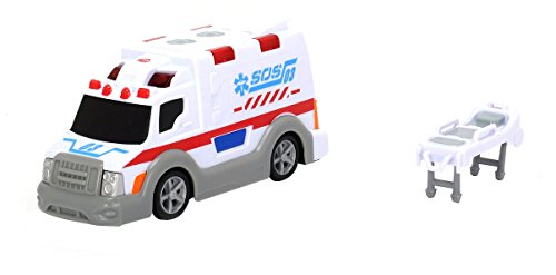Dickie Toys 203313577 - Ambulance, Krankenwagen inklusive Batterien, 15 cm