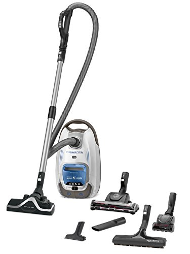 Rowenta RO6371EA Silence Force 4A+ Compact Home & Car - Aspiradora con Bolsa Animal Care Pro. Plata
