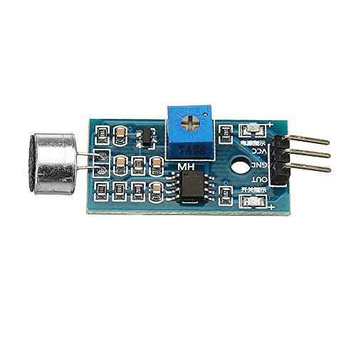 hgbygvuy Módulo de detección de Voz Módulo de Sensor Módulo de reconocimiento razonado Módulo de Sensor de micrófono Sensibilidad DC 3.3V-5V S