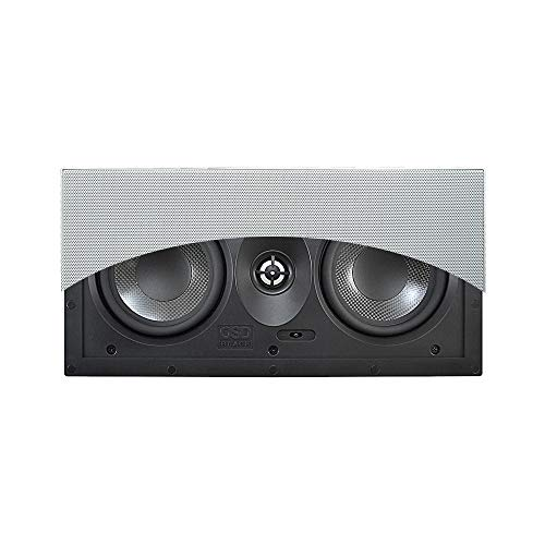 """OSD Black Dual 5.25"""" in-Wall Center Channel Speaker w/Carbon Fiber Woofers and TPR Surround, Single - BK-T53LCR"""