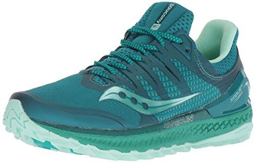 Saucony Xodus ISO 3 W, Zapatillas de Running para Mujer, (Green/Acqua 35), 38.5 EU
