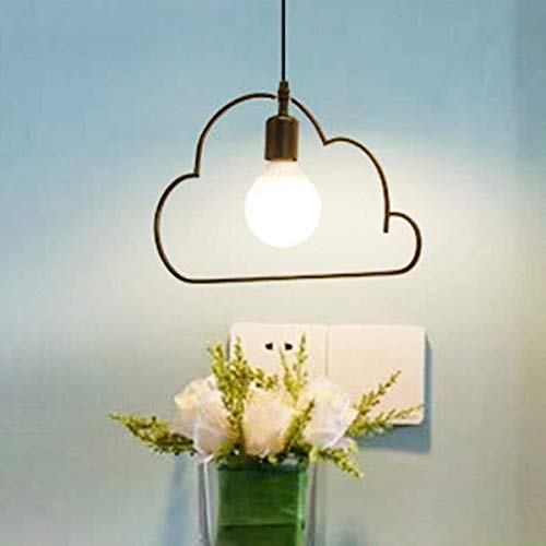 Office kroonluchter Warm hanger Creative Lights Cartoon Cloud Minimalistische led-lampen for Living Room Dining Slaapkamer Girl Kinderen Kinderkamer Iron Lighting Onderzoek kamer kroonluchter