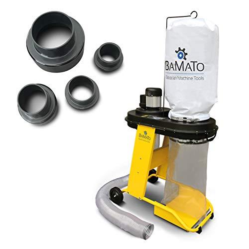BAMATO Absauganlage AB-550 inkl. Adapter Set, 230 V, 2,30m langer und flexibler Absaugschlauch