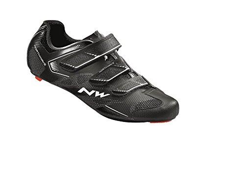 Northwave Sonic 2 Rennradschuh Schuhe SPD Black, Größe:Gr. 48