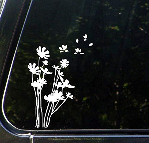Lplpol Premium Anti-Staub Vinyl Aufkleber She Loves Me Flower Petals, Auto Vinyl Decal Sticker 15,2 cm
