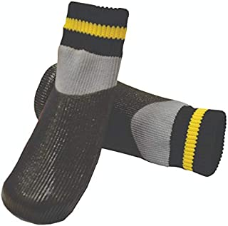 ZEEZ Waterproof Non-Slip Pet Sock Medium (3.7 x 9cm), Black