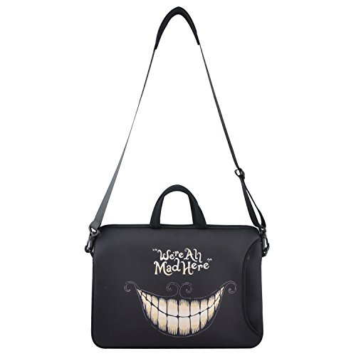 13-Inch We are all mad Here Neoprene Laptop Sleeve Case Bag Side Pocket, Soft Carrying Handle,Removable Shoulder Strap for MacBook Air 13.3-Inch Laptop