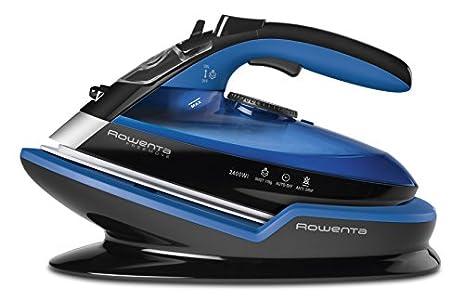 Rowenta DE5010D1 Freemove Plancha de vapor sin cable con golpe de vapor 115 g/min, 2400 W, 250 ml, suela Microsteam 400 láser, Azul/Negro