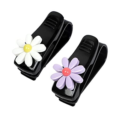 Xuptor 2 soportes para gafas de sol de coche, soporte para gafas de sol, para coche, con clip para tarjeta de entradas, color negro y morado