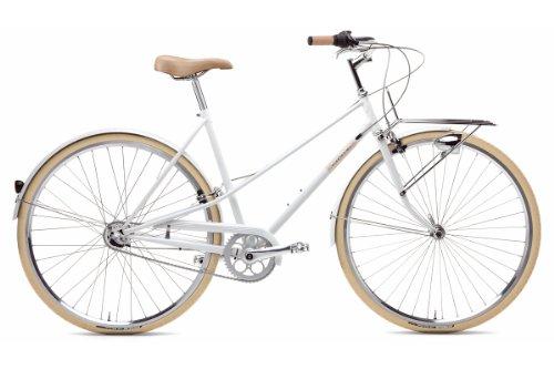Creme Damen Citryrad Caferacer Solo 3 Gang, white, Rahmenhöhe: 45 centimeters, Reifengröße: 28 Zoll (77 cm), BI-CRE-2204_2_45