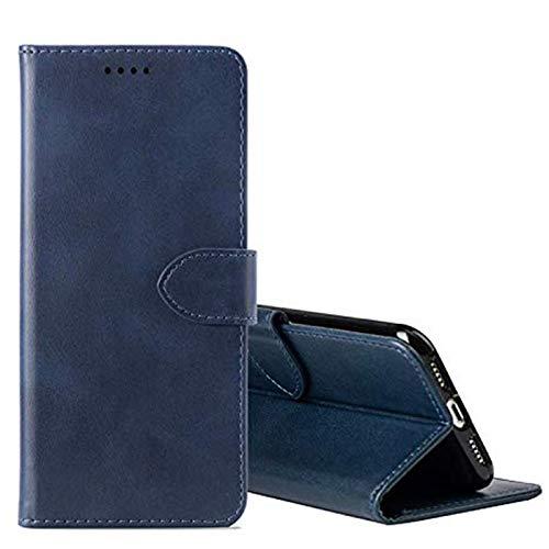 cookaR TP-Link Neffos X20 Handy Hülle Tasche Flip Hülle Kredit Karten Fach Geldklammer Leder Handy Schutzhülle Unsichtbar Magnet Verschluss Standfunktion,Blau