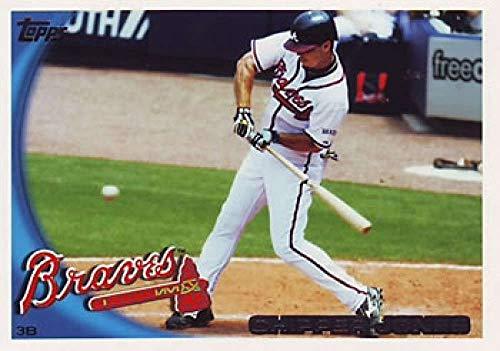 2010 Topps #652a Chipper Jones Atlanta Braves MLB Baseball Card NM-MT Chipper Jones Atlanta Braves Baseball