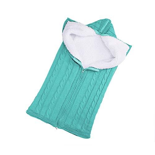 XINGYUE Saco de dormir para cochecito de bebé, universal, unisex, para recién nacido, para niños y niñas, de punto, con cremallera, manta cálida para envolver el cochecito, saco de dormir