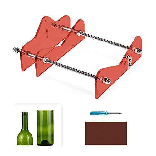 Glass Bottle Cutter, 4 in 1 Bottle Cutter Machine Tools for...