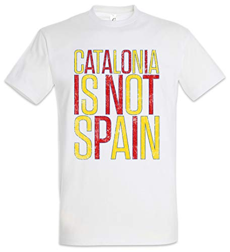 Urban Backwoods Catalonia Is Not Spain Camiseta De Hombre T-Shirt Blanco Talla 3XL
