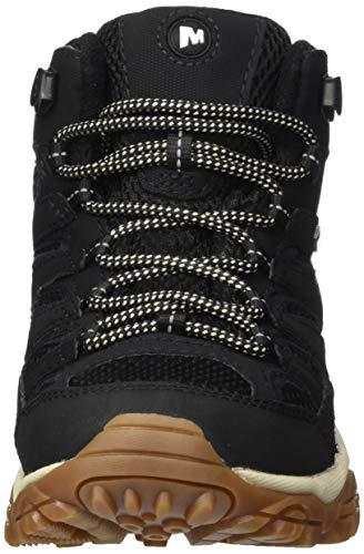 Merrell MOAB 2 Mid GTX, Zapatillas para Caminar, Sintético Mujer, Negro/Goma, 38 EU